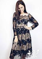Женское Гипюровое Платье, фото 1
