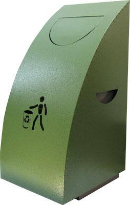 Урна для сміття (ProfitM)  УДС -1 зелений молотковий