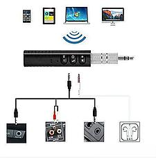 Блютуз гарнитура bluetooth адаптер AUX авто MP3 WAV MHZ BT450, беспроводной аудио адаптер, фото 3