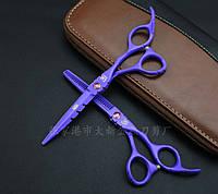 Ножницы KASHO в комплекте фиолетовые