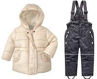 Зимний термокомбинезон Topolinoдля девочки 80, 86, 92 см раздельный, фото 1