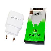 Сетевое зарядное устройство Grand GH-C01 (2USB 2.1А) (Белый)