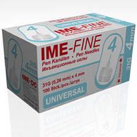 Иголка IME-FINE, 4мм, универсальная к инсулиновой шприц ручке, срок до 2020.04
