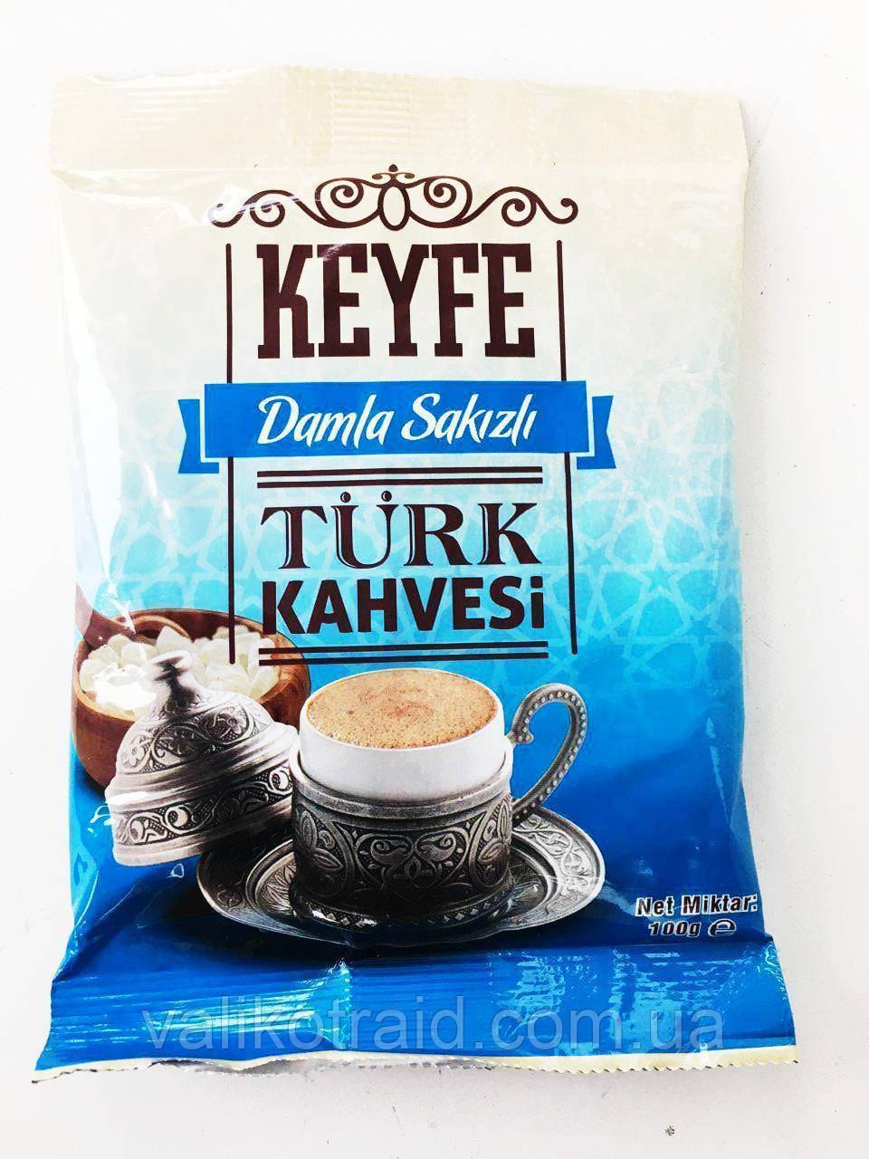 """Турецкий кофе с добавкой мастичного дерева """"Dunyasi Кeyfe turk kahvesi"""" Damla Sakizli,  100 гр, Турция"""