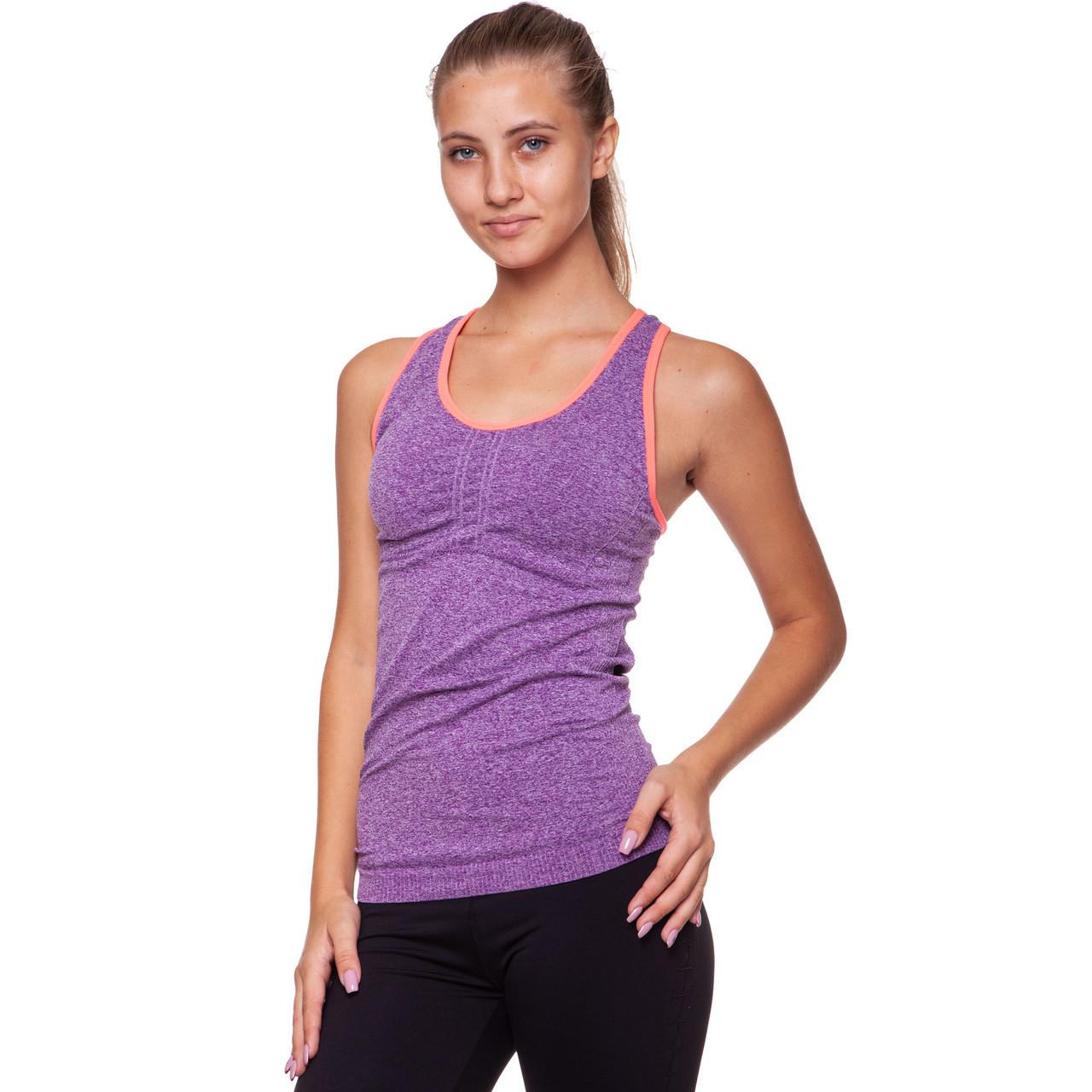 Майка для фітнесу і йоги Domino CO-J1525-2 розмір M-L-40-48 фіолетовий помаранчевий