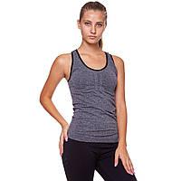 Майка для фитнеса и йоги Domino CO-J1525-3 размер M-L-40-48 серый-черный