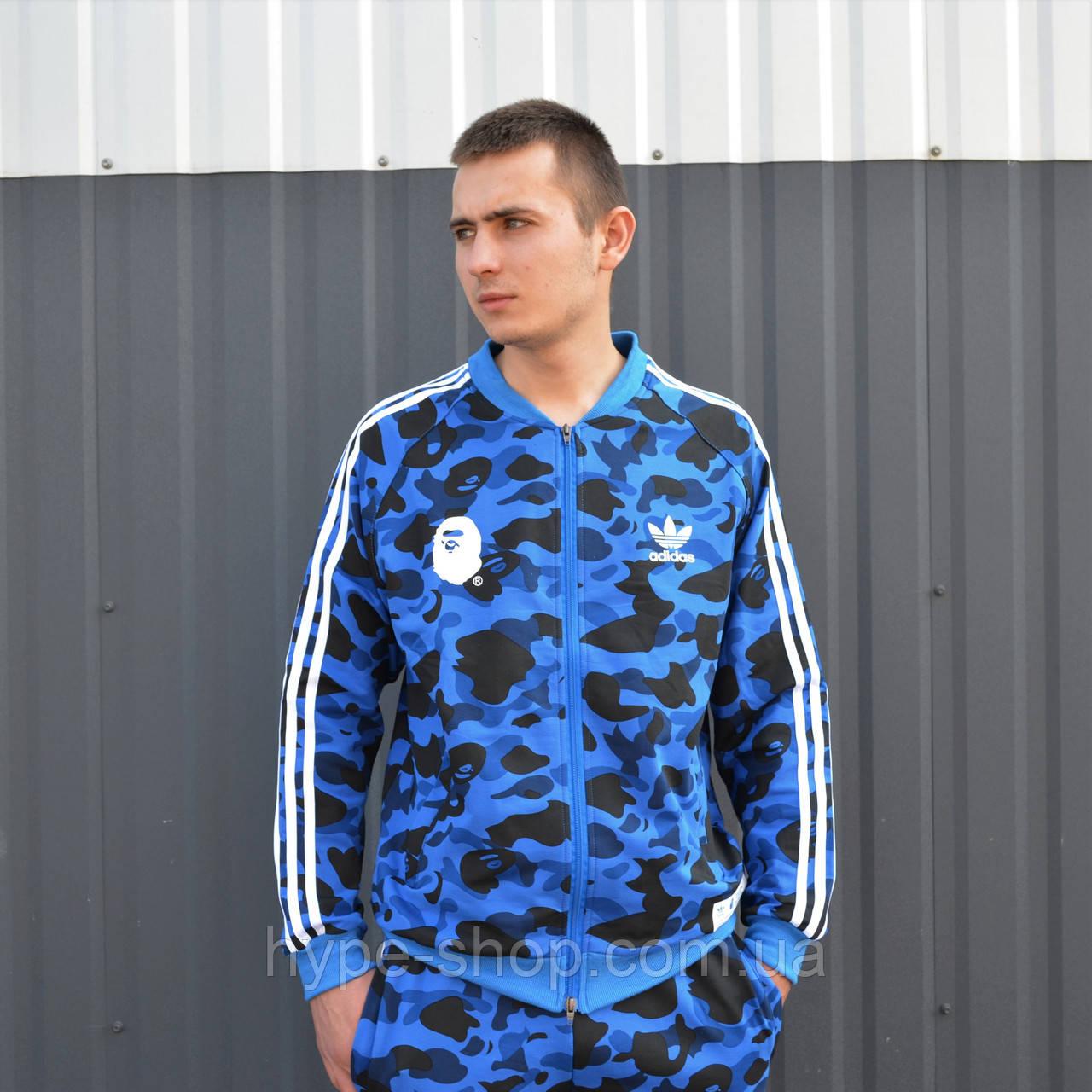 Чоловіча олімпійка в стилі Bape x Adidas Camo