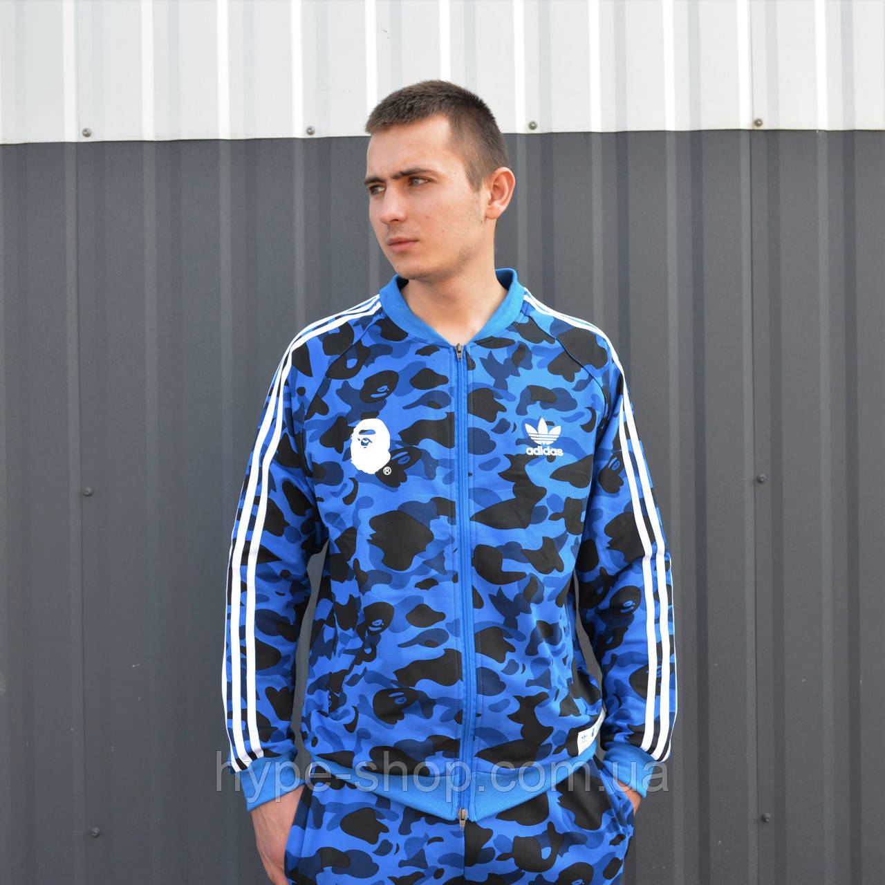 Мужская олимпийка в стиле Bape x Adidas Camo
