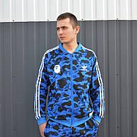 Мужская олимпийка в стиле Bape x Adidas Camo, фото 1