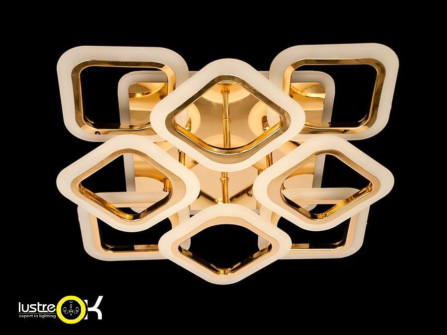 Люстра светодиодная потолочная AS8060/4+4 G Led 3color Dimmer