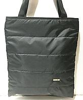 Женские стеганные сумки на плечо оптом (ЧЕРНЫЙ)35*41см