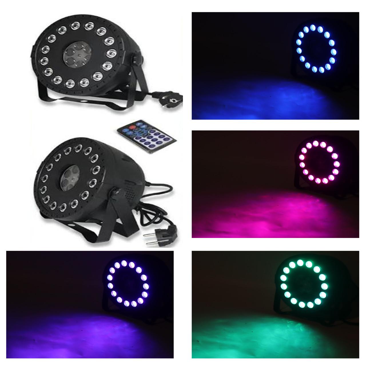 Комбо световой прибор 2в1 LED Par + Gobo с пультом ДУ