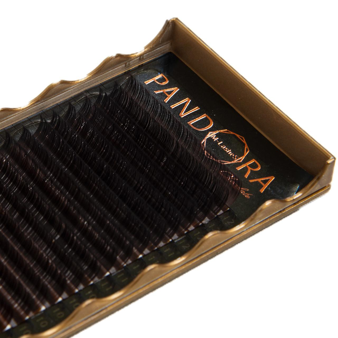 Ресницы Pandora коричневые mix
