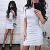 Шикарное облегающее платье мини люрекс, фото 4
