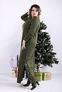 ❤/ Женское оригинальное зеленое платье в пол 01332 / Размер 42-72 / Батал, фото 3