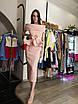 Вечернее нарядное платье миди костюм топ с баской юбка карандаш открытые плечи белое пудровое розовое, фото 9