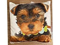 3D декоративная подушка, Собака Йорк