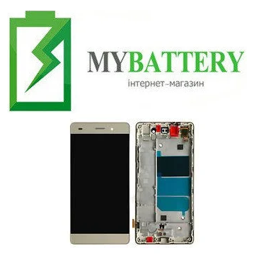 Дисплей (LCD) Huawei P8 Lite (ALE L21) с сенсором белый + рамка