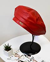 Модный женский берет кожаный берет Dior красного цвета