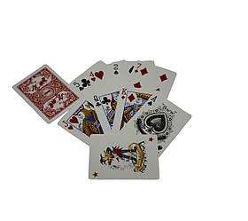 Карты игральныe атласные Duke N0977 54 листа 87x62 мм DN30767Red, КОД: 717736