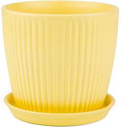 Вазон Зеленая сотка Вертикаль 17 х 18 см Жёлтый 000002761, КОД: 358439