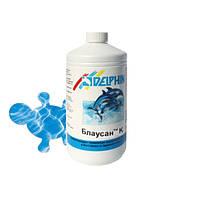 Жидкий альгицид Delphin Блаусан К 1 литр. Средство для удаления водорослей в бассейне, фото 1