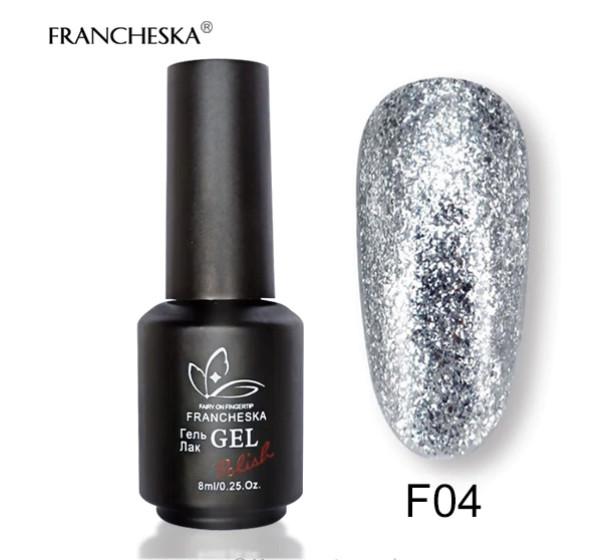 Гель-лак жидкая фольга Platinum Gel Francheska F04, 8 ml