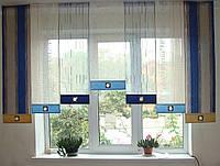 Японские панельки Полосы синие 2,5м, фото 1