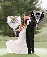 Шар воздушный, шарик Жених и Невеста! 2 шт. комплект!, фото 1