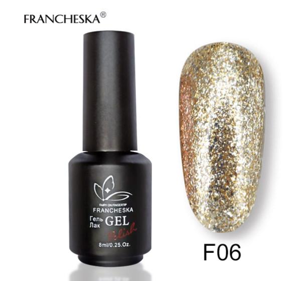 Гель-лак жидкая фольга Platinum Gel Francheska F06, 8 ml