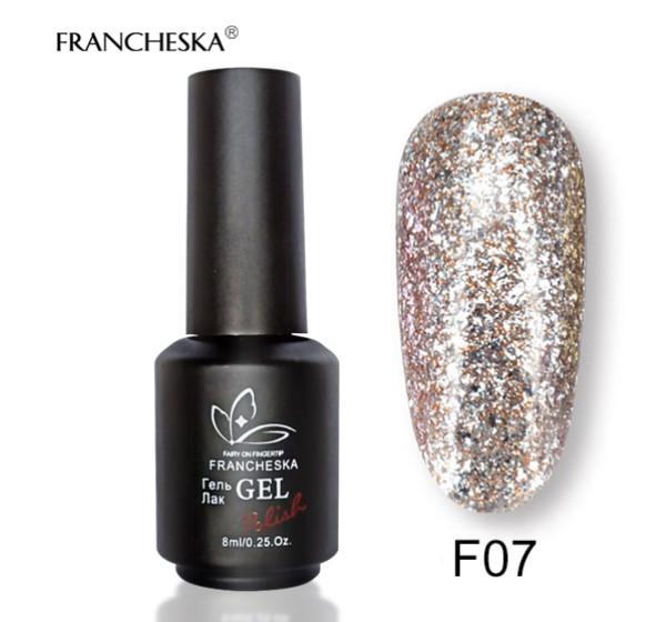Гель-лак жидкая фольга Platinum Gel Francheska F07, 8 ml