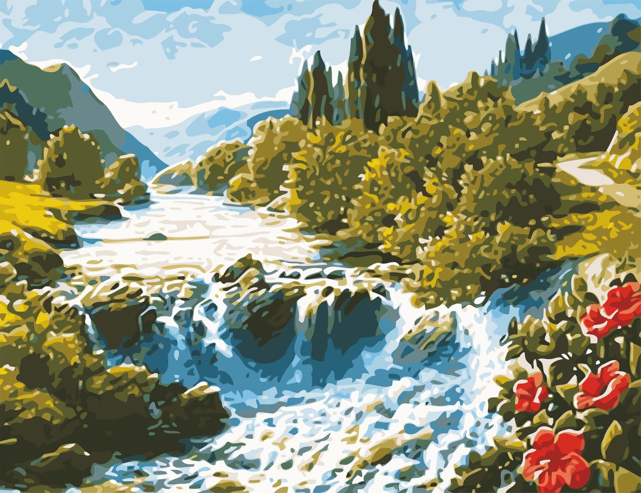 Художественный творческий набор, картина по номерам Волшебный водопад, 50x65 см, «Art Story» (AS0622)