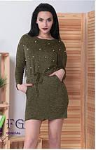 Платье теплое с бусинами из ангоры, фото 2