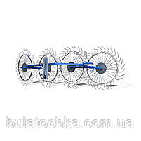 Грабли ворошилки для мотоблока навесные 4-х колесные (заводские ГОСТ, граблина 5мм) порошковая покраска, фото 2