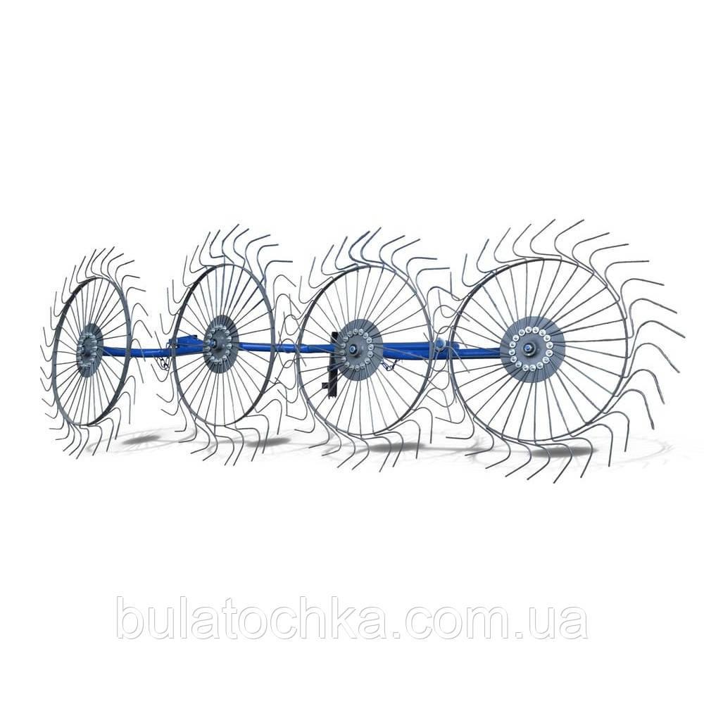 Грабли ворошилки для мотоблока навесные 4-х колесные (заводские ГОСТ, граблина 5мм) порошковая покраска