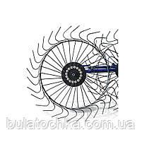 Грабли ворошилки для мотоблока навесные 4-х колесные (заводские ГОСТ, граблина 5мм) порошковая покраска, фото 4
