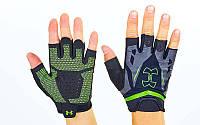 Перчатки для кроссфита и воркаута Under Armour WorkOut BC-6305-G размер M-XL черный-салатовый