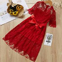 Кружевное платье для девочки размер 104.