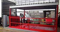 Подъемник ножничный гидравлический 5000х2500мм, ход 1,6м с навесом и мостом откидным