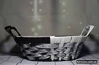 Плетённая корзинка для фруктов с ручками Helios 31*24*9,5 Helios (7327)
