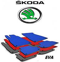 Авто коврики EVA автоковрик ева SKODA Fabia II III Superb Yeti Rapid Oktavia CooB