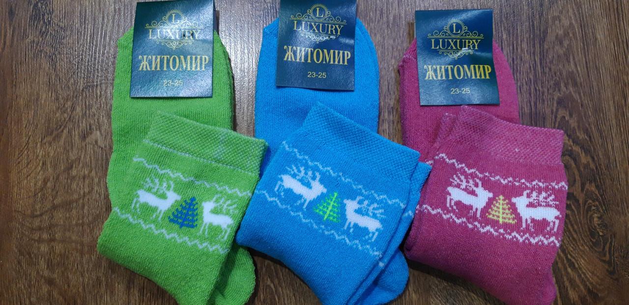 """Шкарпетки жіночі махрові, """"Житомир Олені""""23-25(37-40)"""