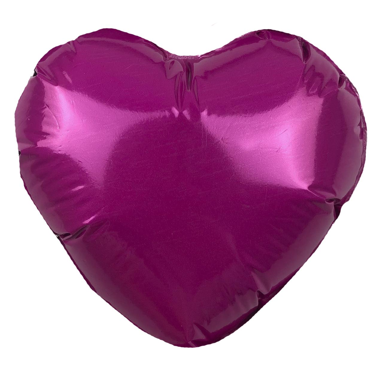 Фольгированный шар 5' Китай Сердце розовое, 12 см