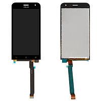 Экран (дисплей,lcd) Asus ZenFone 2 (ZE500CL) Z00D с тачскрином (сенсором,touchscreen) черный