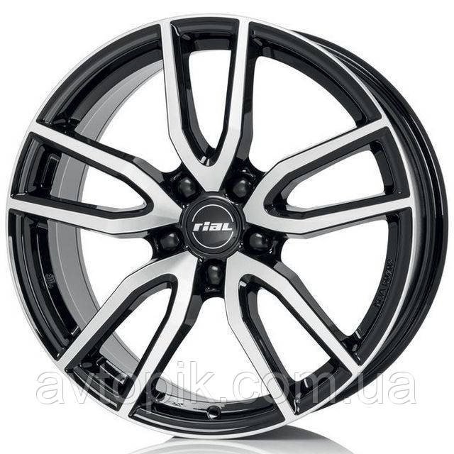 Литые диски Rial Torino R17 W7.5 PCD5x114.3 ET40 DIA70.1 (diamond black front polished)