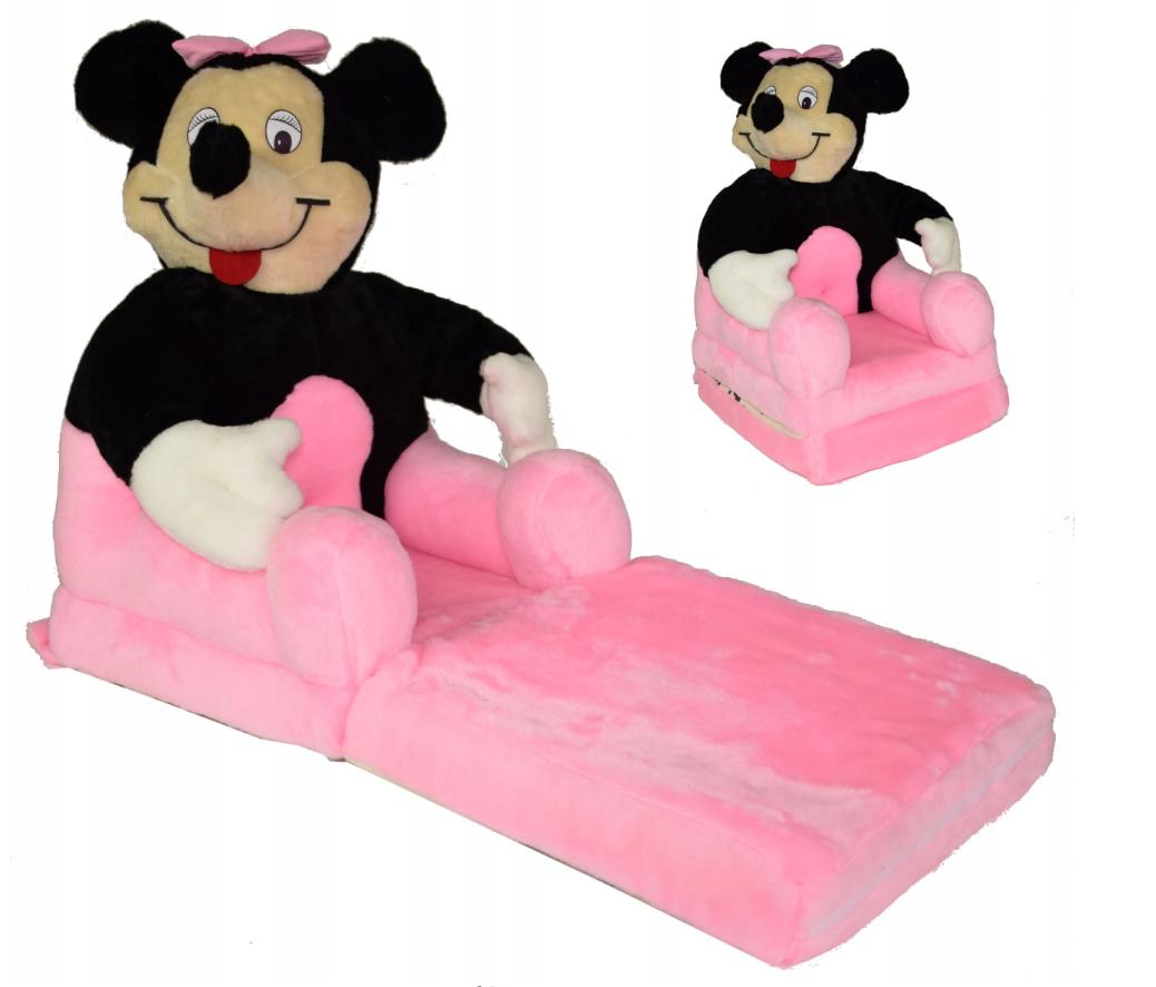 Детское мягкое кресло Минни Маус розовое