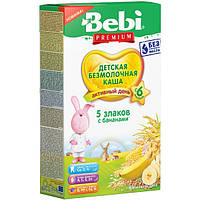 Безмолочная каша Bebi Premium 5 злаков с бананом с 6 месяцев 200 г