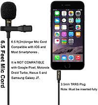 Професійний петличний мікрофон ZL06 (для камер, смартфонів, планшетів, ноутбуків, ПК), фото 2
