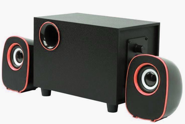Колонки компьютерные FT-H3 mini 2.1 USB, черные с красным