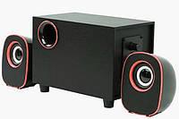Колонки компьютерные FT-H3 mini 2.1 USB, черные с красным, фото 1